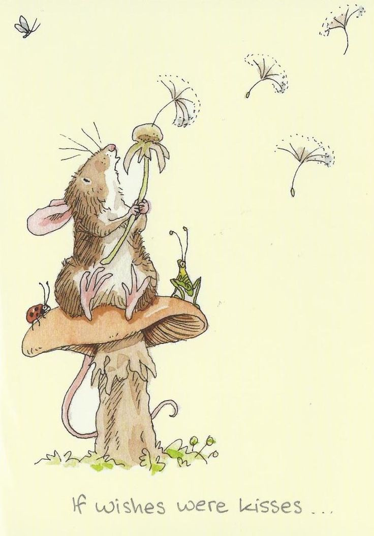 'If kisses were wishes' - by Anita Jeram, English author and illustrator of picture books for children.