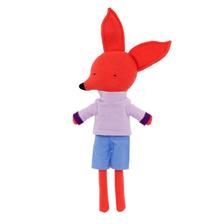 Long-legged Fox in a Purple Shirt by Silly Dolls Canada
