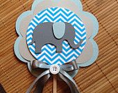 Elephant chevron centerpiece baby shower decoration it's a boy elephant baby shower