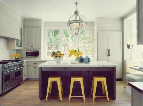 gelbe & graue küchen dekorieren: ideen & inspiration