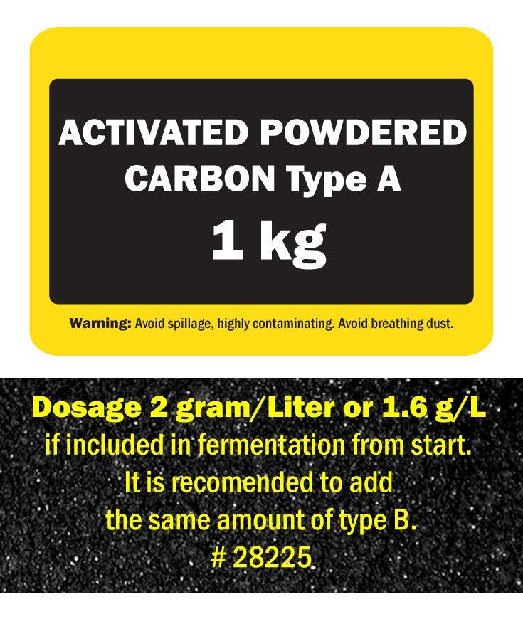 """Aktivt kolpulver. Blandas vanligen 50/50 med typ B för max effekt. Samma kol som vi har i vår produkt """"Flytande aktivt kol"""" som är en 50/50 blandning av dessa kolsorter slammade i destillerat vatten."""