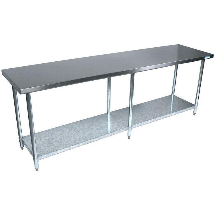 "Stainless Steel Work Prep Table 24"" x 96"" NSF Certified"