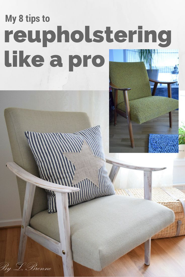tips to reupholstering a chair DIY