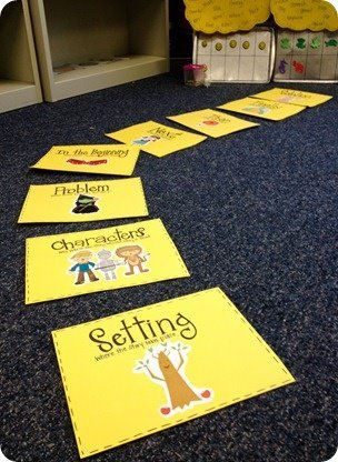Yellow Brick Road Story Retelling--What a great way to engage the kinesthetic learners!  Maybe this can be added to our retelling center?