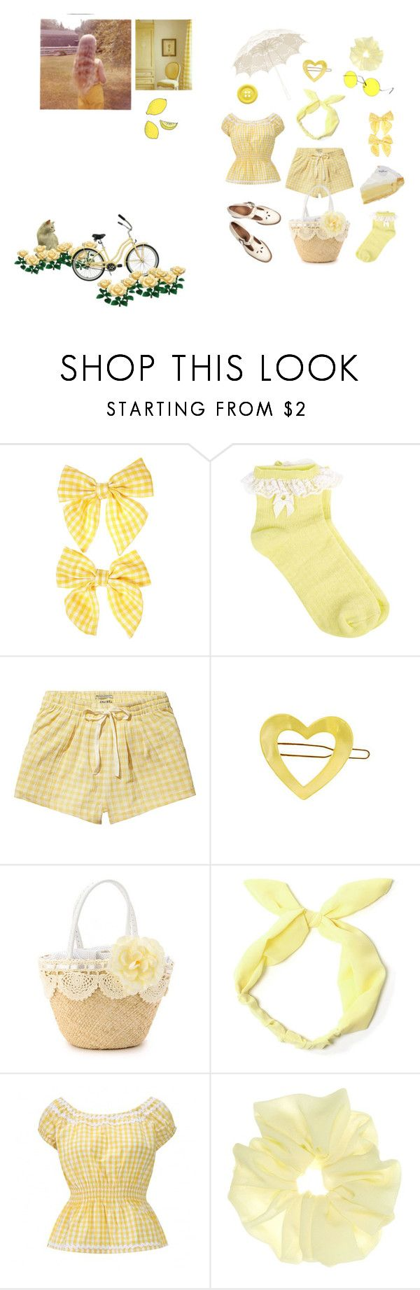 """""""lemon meringue redux"""" by grenalien ❤ liked on Polyvore featuring Clips, Oasis, Scotch & Soda, France Luxe, Dollhouse, BC, Chloé and Off-White"""