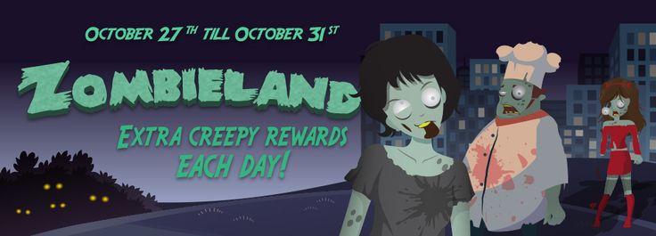 Attention Zombie Fans! Get ready fot the Zombieland at BingoSpirit and win Creepy rewards!  #zombie #halloween #onlineBingo