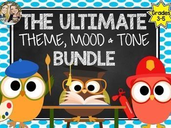 Need resources to teach THEME, MOOD & TONE? Look no further! Here is EVERYTHING you need to Teach ALL 3!Here's What's Included:Theme, Mood and Tone Poster/Anchor Chart with definition and questions to consider (3 total posters)A List of Common Themes, Moods and Tones in Literature (3 more posters) Sentence Frames (a list of around 15 for each)Lesson Notes for students to glue into their Reader's Notebook or Composition Books.