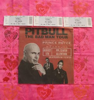 """The Bad Man Tour on Friday August 5 2016 Allentown PA. The 2nd time my family see Pitbull in Concert. Epic and Amazing like our first time. """"Don't Stop The Party!"""" Pitbull, Prince Royce, Farruko and Fuego."""