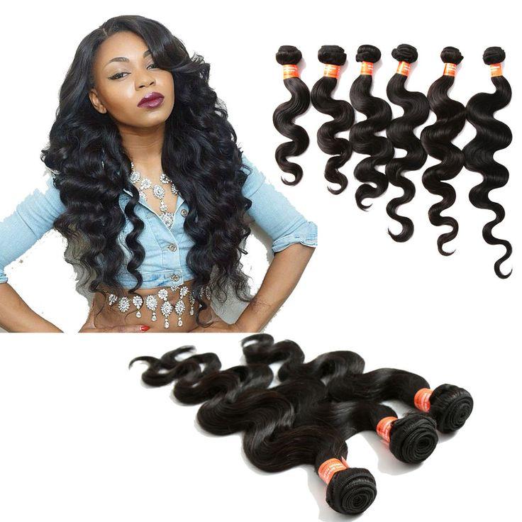 "US hOT Human Hair Brazilian Hair Bundles 3pcs Brazilian Body Wave Hair16""18""20"" #WIGISS #HairExtension"