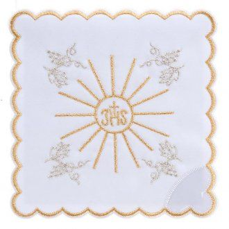 Servicio para la misa 4 piezas con bordado símbol IHS | venta online en HOLYART