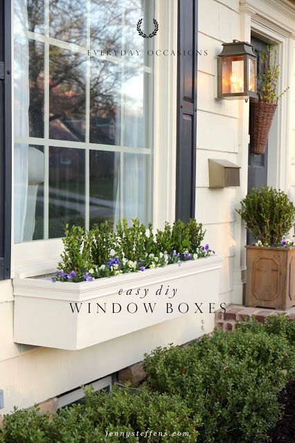 easy diy window boxes flower boxes house inspiration pinterest window planter boxes. Black Bedroom Furniture Sets. Home Design Ideas