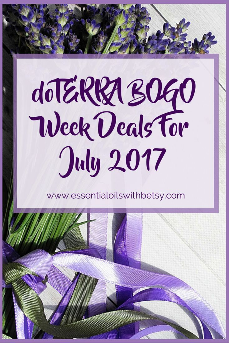 doTERRA BOGO Week Deals July 2017  doTERRA Bogo week is coming BACK!! This post will beupdated daily with the latest Buy One Get One information from doTERRA International. Check back daily to find out the doTERRA deal of the day from July 17-22, for