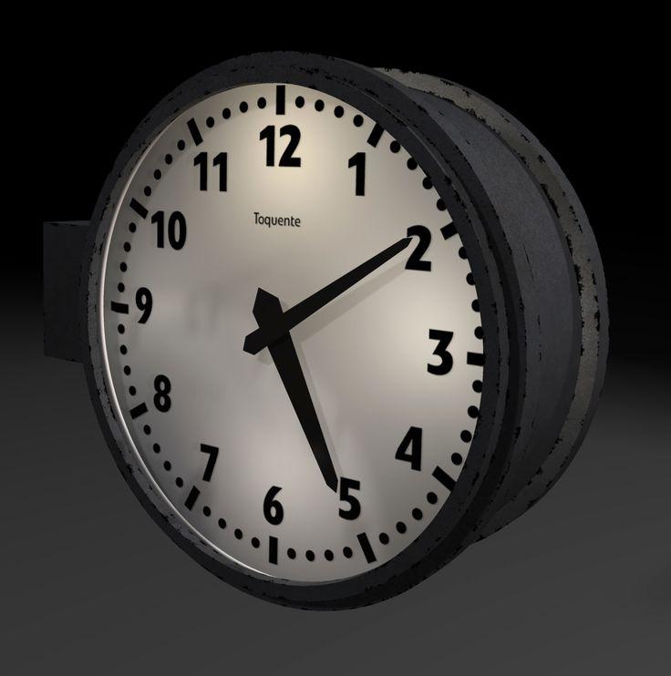 L'horloge de la gare, également présente sur les quais du dépôt.