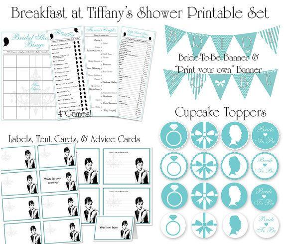 Breakfast at Tiffany's Bridal Shower by ShameronStudios on Etsy, $20.00