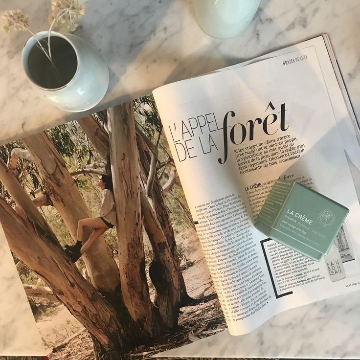 🌲L'appel de la forêt résonne dans le dernier numéro de @grazia_fr ! La nouvelle CRÈME visage y est à l'honneur #oceopin #presse #grazia #foret #nature #cosmetiquebio #beautebio #organicskincare #madeinfrance #hiver17 #holidays