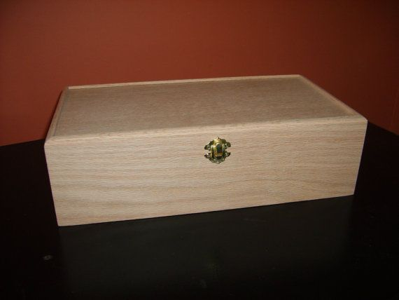 this company for usb drive boxes. Unfinished Wood Box with Hinges & Latch-10x6 x3 3/4-Oak Box via Etsy