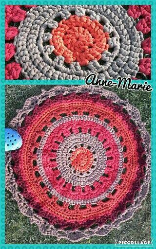 T yarn rug using anneke's pattern