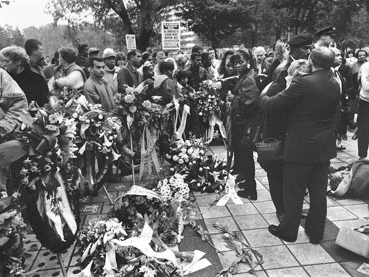 Herdenking van de Bijlmerramp. Maurice Boyer / NRC