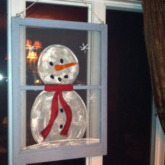 Pin By Sandi Allen On Snowmen Old Window Crafts