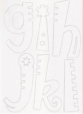 Molde de letras | RECREAR - MANUALIDADES - ARTE