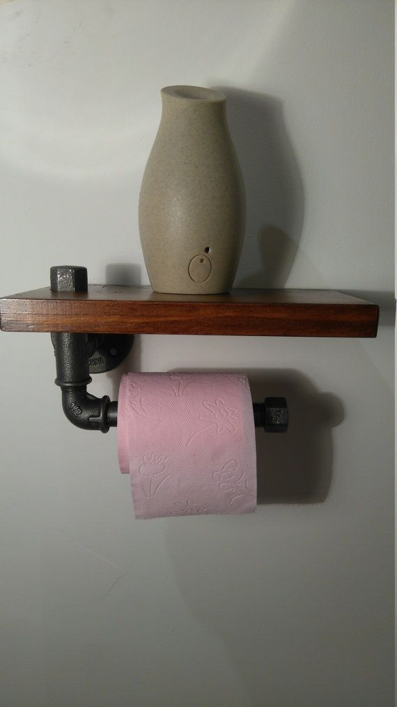 Support Toilet Paper Support Tube Steel Steampunk Furniture Home