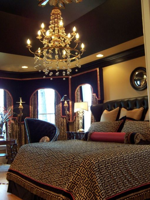 black and gold master bedroom dollhouse pinterest