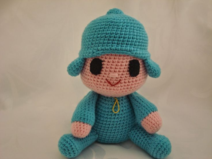 Muñeco Pocoyo Amigurumi - Patrón Gratis en Español aquí: http://amigurumilacion.blogspot.com.es/2014/12/pocoyo-amigurumi-patron-libre.html     Videotutorial aquí: https://www.youtube.com/watch?v=UF1HWisn0Uk