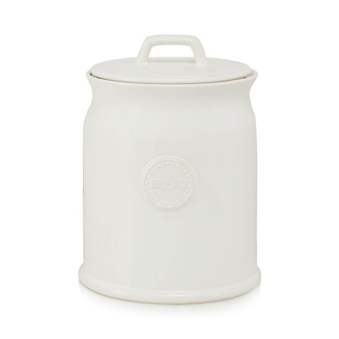 This jar from At home with Ashley Thomas is a simple piece that will complement a range of kitchens. Made from ceramic, it features an airtight lid.