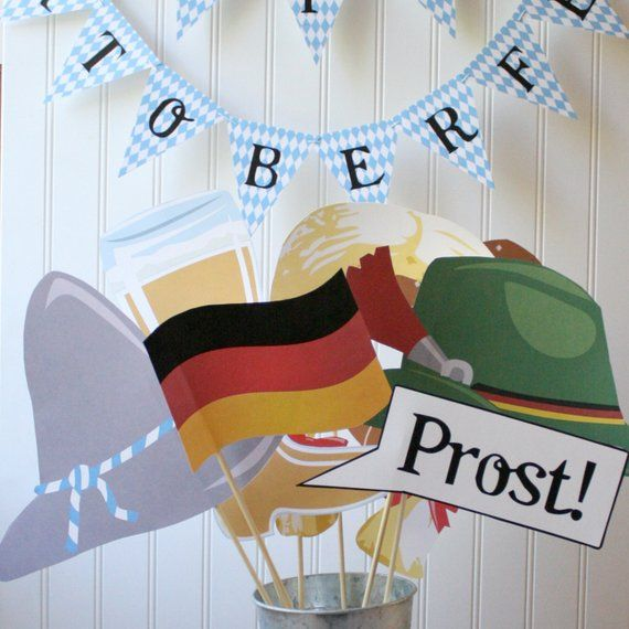 Oktoberfest PHOTO BOOTH PROPS Printable – diy printable / downloadable pdf – Products