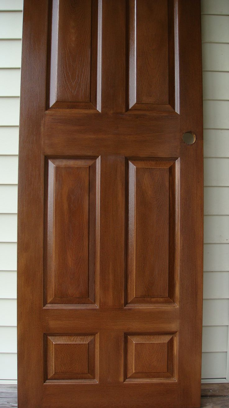 Finished Masonite Door with Stainable Primer, Then stained ...