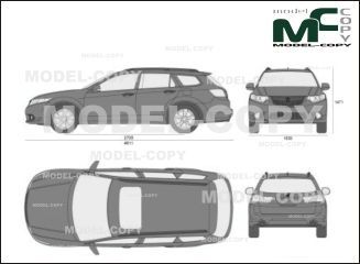 Acura TSX Sport Wagon' 2011 - drawing