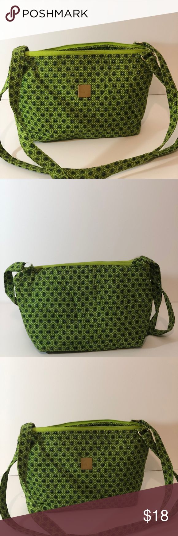 Emerald green shoulder bag Emerald green shoulder bag measures approximately 12x7.5 has inside pockets for extra storage light weight bag can be carried any where handmade Bags Shoulder Bags