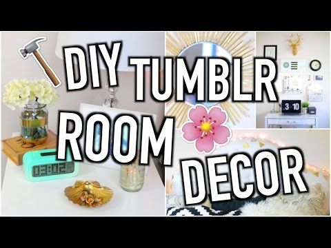 DIY Room Decor - Tumblr Inspired! | Jeanine Amapola - YouTube For the sunburst mirror, I think a mixed metal vibe would work, so like one copper and one silver and one gold... Repeated.