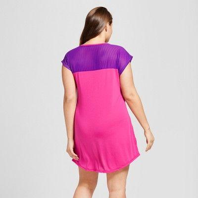 Women's Plus Size Lisa Frank Sleep Shirt - Pink 2X