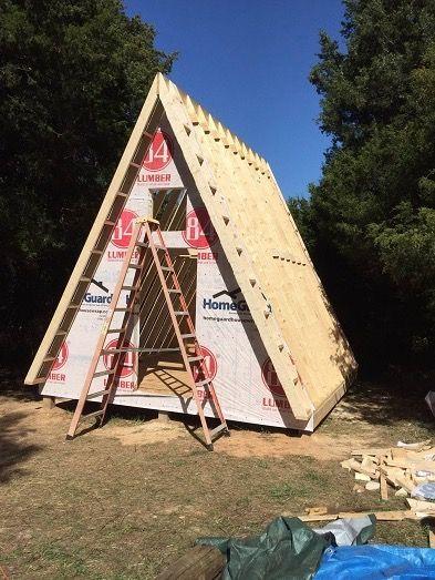 14'x14' Tiny A-frame Cabin Plans by LaMar Alexander