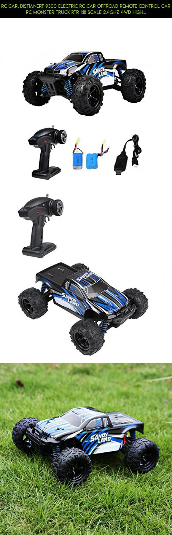 RC Car, Distianert 9300 Electric RC Car Offroad Remote Control Car RC Monster Truck RTR 1:18 Scale 2.4Ghz 4WD High Speed 30MPH with 2 Rechargeable Batteries #products #tech #drone #cars #kit #gadgets #shopping #parts #fpv #traxxas #rc #technology #camera #racing #plans