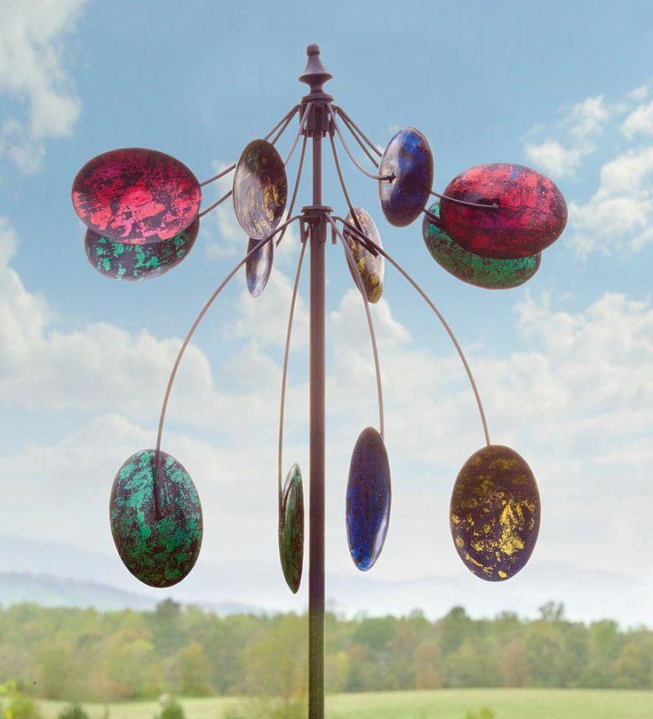 Two-Tiered Kaleidoscope Garden Wind Spinner