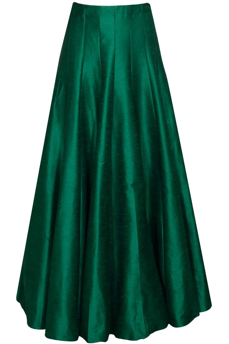 Simple green lehenga