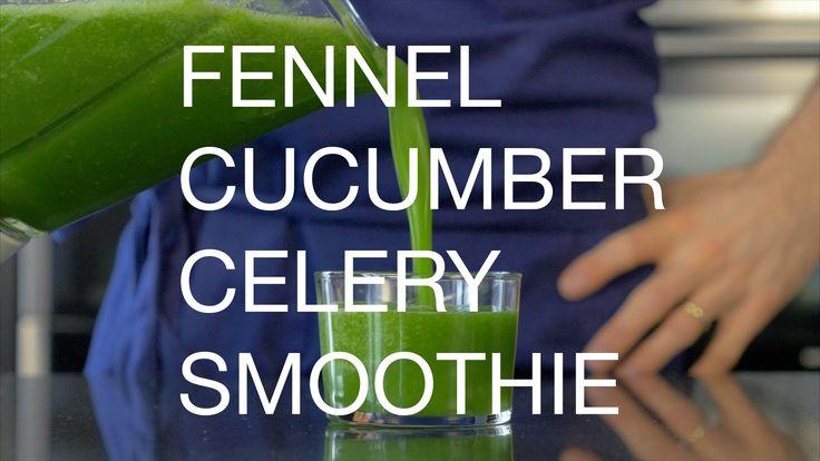 Fennel, cucumber & celery smoothie