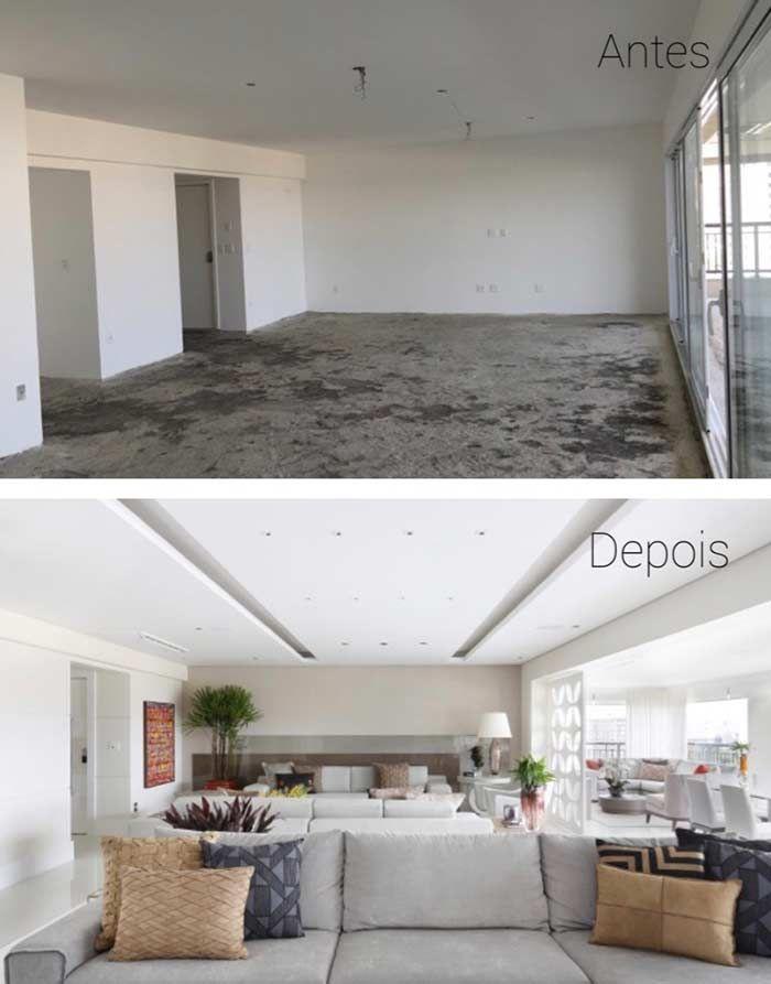 7f500404791 Teto de gesso antes e depois | DECORAÇÃO em 2019 | Teto de gesso ...