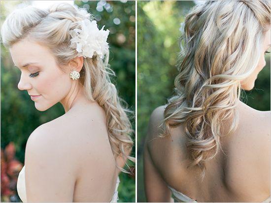 Half Up Half Down Wedding Hairstyles: 186 Best Images About Hair Styles- Half Up, Half Down On