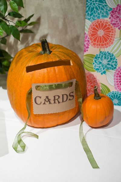 pumpkin card holder