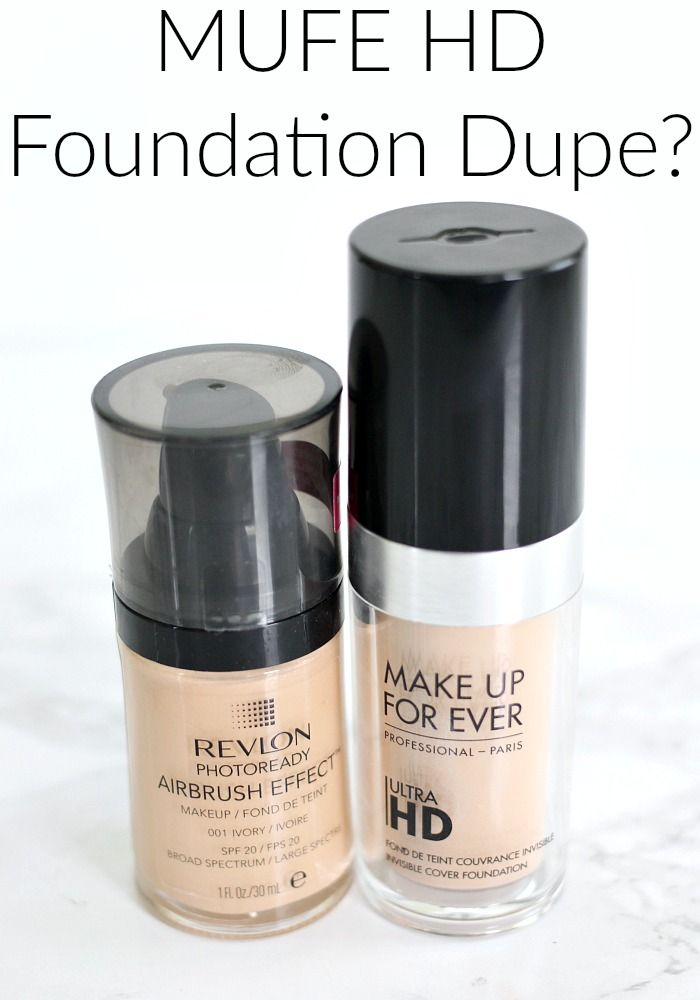 MUFE HD Foundation Dupe? Revlon Airbrush Effect Foundation Review