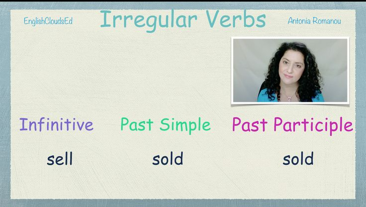 A screenshot from my third video on Irregular Verbs-Learn them the smart, easy way!