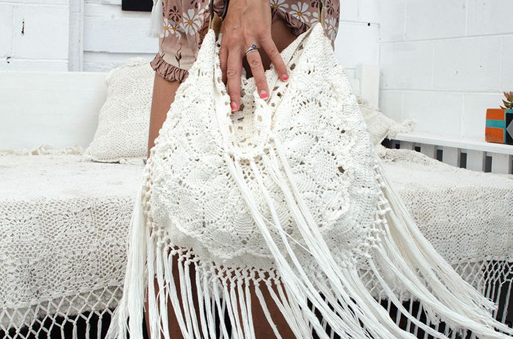 Crushing on this fringed crochet cross body by Spell & the Gypsy Collective.