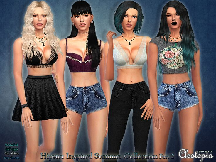 Fabuleux 53 best Vêtements femmes Sims 4 images on Pinterest | Sims 4  FO08