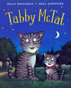 Tabby McTat was a busker's cat  Side by side on the pavement they sat  And people threw coins in the old checked hat  When he sang them their favourite  song