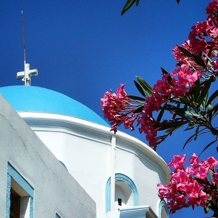 Where flowers  bloom so does hope. (Lady Bird Johnson).  Orthodox church in Kos Island Greece.