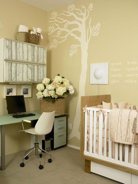 Multipurpose baby room, office, baby room, wall stencil, storage, modern