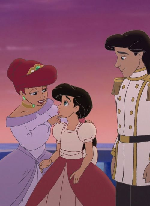 """The Little Mermaid II: Return to the Sea"" - Ariel, Eric, and Melody."
